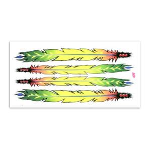 Feathers sticker set voor fietsen | Afmeting 20 x 24 cm
