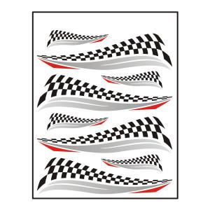 Finish flag sticker voor fietsen | Afmeting 24 x 20 cm
