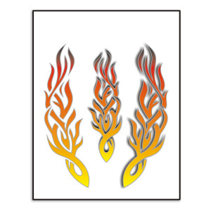 Flames sticker voor fietsen | Afmeting 20 x 24 cm