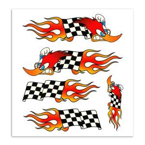 Woodpeckerflag sticker voor fietsen | Afmeting 20 x 24 cm