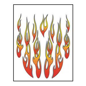 Stk. flames 911 voor fietsen | Afmeting 24 x 20 cm