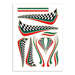 Italian checker flags voor fietsen | Afmeting 20 x 34 cm