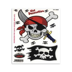 Pirate skull voor fietsen | Afmeting 13.5 x 16 cm