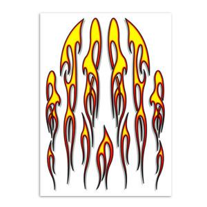 Stk. flames voor fietsen | Afmeting 24 x 34 cm