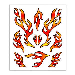 Stk. red flames 20 x 24 cm voor fietsen | Afmeting 20 x 24 cm