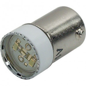 New-Elfin LED lamp BA9S 24V geel - 010BA9SLG24