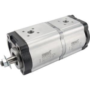 Gopart Hydrauliekpomp dubbel 19+11cc - 01174210N | 19 cc/omw | 220 bar p1 | 270 bar p2 | 250 bar p3 | 3000 Rpm omw./min. | 500 Rpm omw./min. | 196,3 mm | 196,3 mm | 40 mm | 35 mm