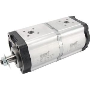 Gopart Hydrauliekpomp dubbel 16+14cc - 01175992N | 16 cc/omw | 230 bar p1 | 230 bar p2 | 270 bar p3 | 3500 Rpm omw./min. | 600 Rpm omw./min. | 196,3 mm | 196,3 mm | 40 mm | 35 mm