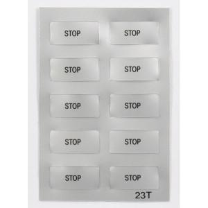 """New-Elfin Label """"STOP"""" - 02023T"""