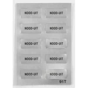"""New-Elfin Label """"NOOD UIT"""" - 02091T"""
