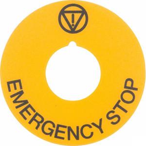New-Elfin Plaat geel EMERGENCY D60 - 020D23