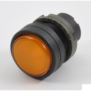 New-Elfin Signaallamplens oranje - 020LTBBAK | Complete lamphouder | Eenvoudige montage | UL, CSA, RINA, IMQ | Oranje | 2W max. W