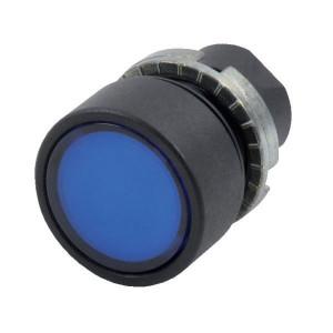 New-Elfin Verlichte drukknop blauw - 020PTAILBLK | UL, CSA, RINA, IMQ | 2x10E6 schakelingen