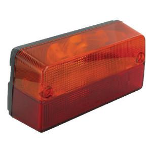 Cobo Achterlicht L/R - 0213990000 | Geschikt voor John Deere | links / rechts | Opbouw | 220 mm | 104 mm | rood / orange