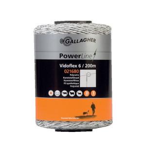 Gallagher Vidoflex 6 200m - 021680GAL | Uitstekende geleiding | 98 kg | 5,9 Ohm Ohm/m | 6 mm