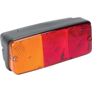 Cobo Achterlamp - 02180000   Opbouw   160 mm   rood / orange   2x M5x12mm
