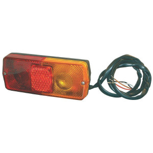 Cobo Achterlamp rechts - 02397000 | rechts | Inbouw | 4 aanluiting | 160 mm | rood / orange