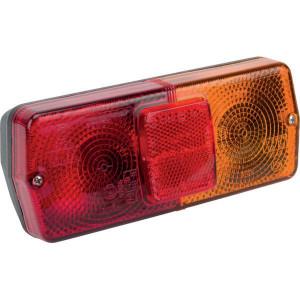 Cobo Achterlamp - 02430000   links / rechts   Opbouw   160 mm   184 mm   rood / orange
