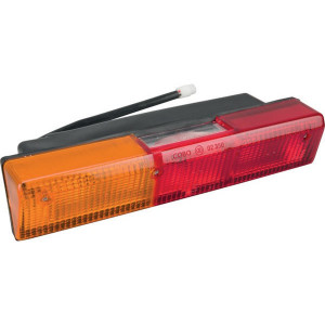 Cobo Achterlamp links - 02746000 | Inbouw | 305 mm | rood / orange