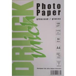 Druckmich fotopapier, A4, 155 gram, glanzend 50 vel, dubbel zijdig