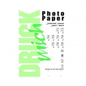 Druckmich fotopapier, A3, 130 gram, mat, 50 vellen, enkelzijdig
