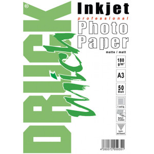 Druckmich fotopapier, A3, 180 gram, mat 50 vel, enkel zijdig