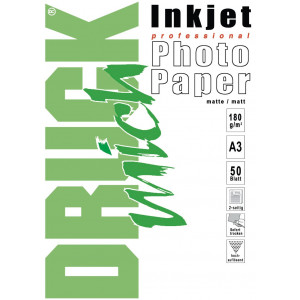 Druckmich fotopapier, A3, 180 gram, mat 50 vel, dubbel zijdig