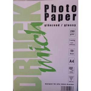 Druckmich fotopapier, A4, 250 gram, glanzend (glossy) 50 vel, enkel zijdig