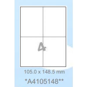 Huismerk etiketten, 400 stuks, 100 vellen, 105x148,5mm, wit