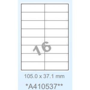 Huismerk etiketten, 1600 stuks, 100 vellen, 105x37,1mm, wit