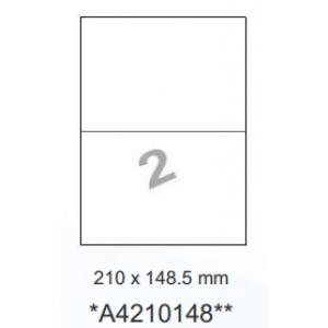 Huismerk etiketten, 200 stuks, 100 vellen, 210x148mm, wit