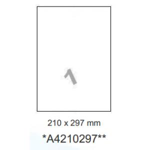 Huismerk etiketten, 100 stuks, 100 vellen, 210x297mm, wit