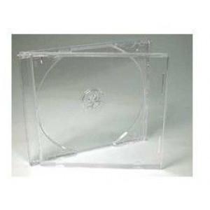 Huismerk jewelcase, voor 1 CD, 10.4 mm rug, transparant, 25 stuks