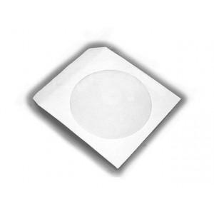 MediaRange papieren hoes (paper sleeves) wit, met raam, zelfklevende flap, 100 stuks