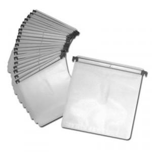 Insteekhoezen (sleeves) navulset voor DJ koffers, wit / transparant, 20 stuks