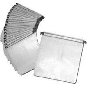 Huismerk insteekhoezen (sleeves) voor DJ koffers, wit / transparant, 100 stuks