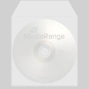 MediaRange kunststof hoes (plastic sleeves) transparant met plakstrip, 50 stuks