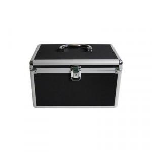 Huismerk CD/DVD DJ koffer, 120 schijven, 1 vak, inclusief hangmapjes kleur zwart