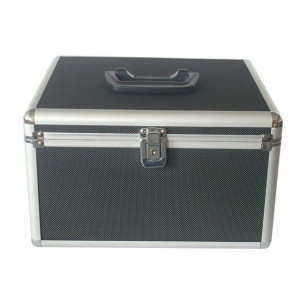 Huismerk CD/DVD DJ koffer, 300 schijven, zwart, 2 vakken, inclusief hangmapjes