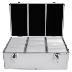 Huismerk CD/DVD DJ koffer, 500 schijven, 3 vakken, inclusief hangmapjes