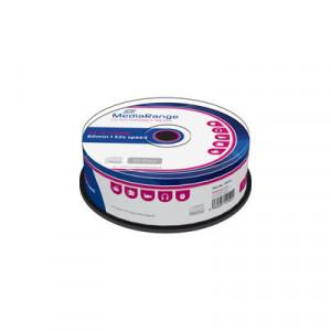 MediaRange CD-R schijven, 700 Mb / 80 minuten opslagruimte, snelheid 52x, 25 stuks, cakebox verpakking