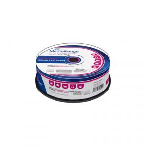 MediaRange Printable CD-R Schijven, 700Mb / 80 minuten opslagruimte, snelheid 52x, 25 stuks, cakebox verpakking