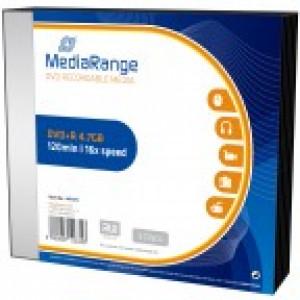 MediaRange DVD+R schijven, 4,7 Gb opslagruimte, snelheid 16x, 5 stuks incl, slimline doosjes