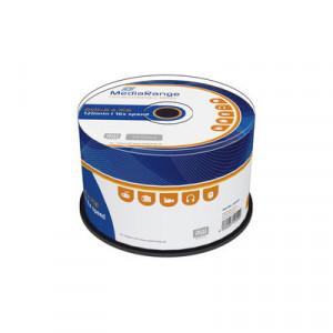MediaRange DVD+R schijven, 4.7 Gb opslagruimte, snelheid 16x, 50 stuks, cakebox verpakking