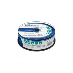 MediaRange DVD+R DL (Dual Layer) schijven, printable oppervlakte, 8.5 Gb opslagruimte, snelheid 8x, 25 stuks, cakebox verpakking