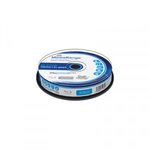 MediaRange Blu-ray schijf, BD-R, printable, 25 Gb opslagruimte, snelheid 4x, 10 stuks, cakebox verpakking