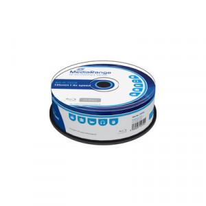 MediaRange Blu-ray schijf, BD-R, 25 Gb opslagruimte, snelheid 4x, 25 stuks ,cakebox verpakking, Type H.T.L.