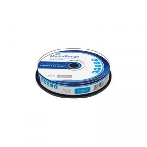 MediaRange Blu-ray schijf, BD-R DL, 50 Gb opslagruimte, snelheid 6x, 10 stuks, cakebox verpakking