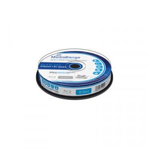 MediaRange Blu-ray schijf, BD-R DL, printable, 50 Gb opslagruimte, snelheid 6x, 10 stuks, cakebox verpakking