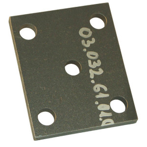 Aanlasplaat - 0303261010   5 x 18 mm   135 x 110 mm   95 x 77 mm